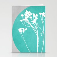 decal Stationery Cards featuring Abstract Flowers 1 by Mareike Böhmer