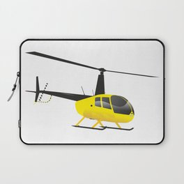 Light Black and Yellow Helicopter Laptop Sleeve