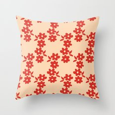 Aztek floral orange 1 Throw Pillow