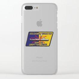 USS DANIEL WEBSTER (SSBN-626) PATCH Clear iPhone Case