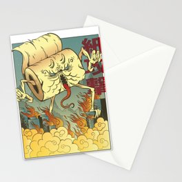 Toilet Paper Monster Stationery Cards