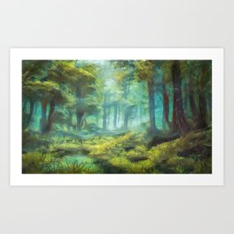 Sherwood Forest, Nottinghamshire UK Art Print
