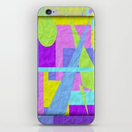 Geom Shaping Bright iPhone Skin
