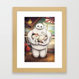 Hairy Baby Framed Art Print