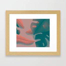 Floral tropical Framed Art Print