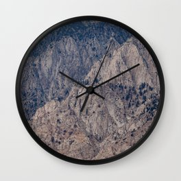Mountain Layers (Eastern Sierra Nevadas, California) Wall Clock