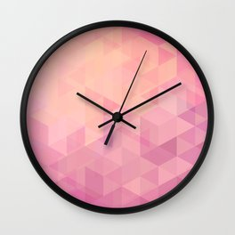Geometric Pink  Wall Clock