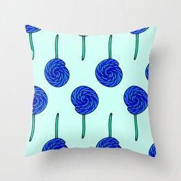 Smurf Mint Lollipop Throw Pillow