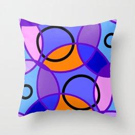 Circle and Circle Throw Pillow