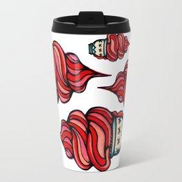 pink ice cream . finkpink . pattern Travel Mug