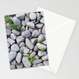 Sea Stones - Gray Rocks, Texture, Pattern Stationery Cards