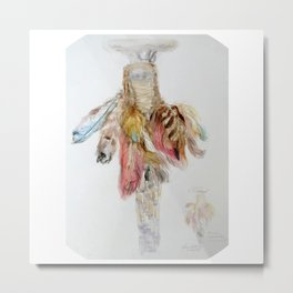 Ceremonial Feather Metal Print
