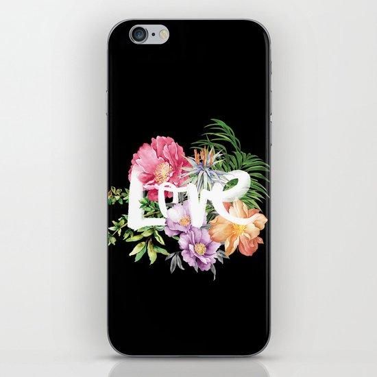 Love is Black iPhone & iPod Skin