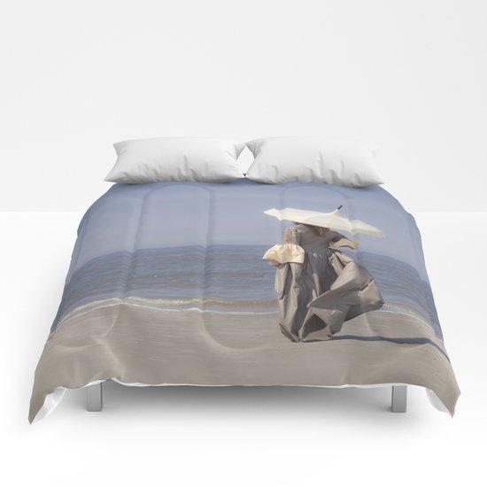 White Parasol Comforters