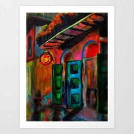 Rain in the Quarter Art Print