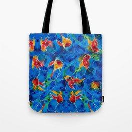 Koi Pond 2 - Liquid Fish Love Art Tote Bag