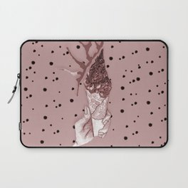 watercolor bardo pattern with grey ice cream and chocolate Laptop Sleeve