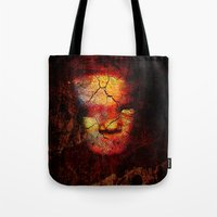 zombie Tote Bags featuring Zombie by Joe Ganech