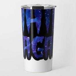 Hail Sagan - Carl Sagan galaxy blue Travel Mug