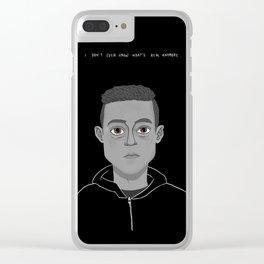 Elliot Alderson Clear iPhone Case