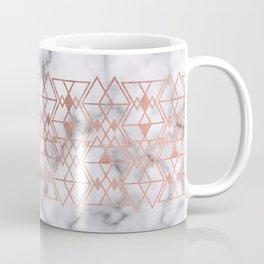 Rose Gold Marble Triangle Tribal Geometric Coffee Mug