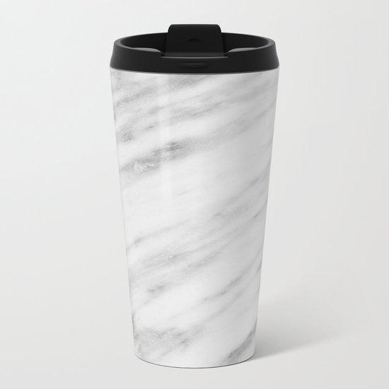 Carrara Italian Marble Metal Travel Mug