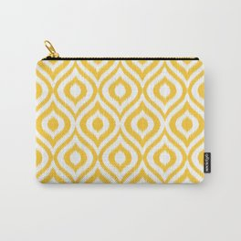 Yellow Ikat Ogee  Carry-All Pouch