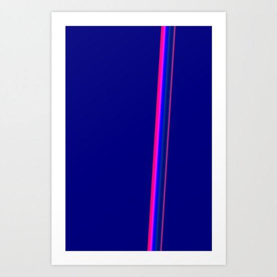 light streak Art Print
