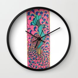 Mr Peacock Wall Clock