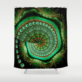 Pretty eyes, swirling pattern abstract Shower Curtain