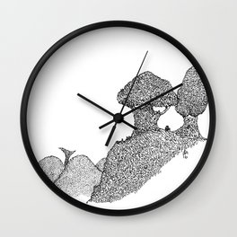 A view from the side Wall Clock
