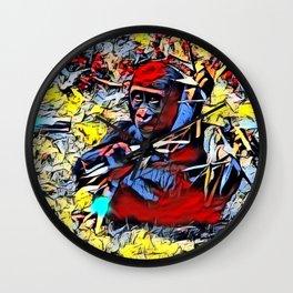 Color Kick - Gorilla Baby Wall Clock