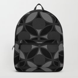 Geometric Circles In Grays and Black Backpack