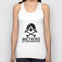 metroid Tank Tops featuring Metroid Exterminators by SlapJacktheMonkey