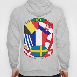Football ball with various flags - semifinal and final Hoody