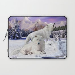 Snow Wolves of the Wilderness Laptop Sleeve