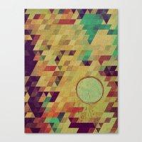 luna Canvas Prints featuring luna by Laura Moctezuma