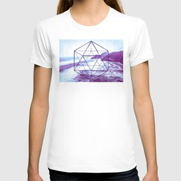 The Elements Geometric Nature Element of Water T-shirt