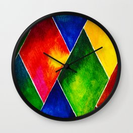 GEOMETRIC BRIGHTS #4 Wall Clock