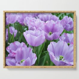 Mauve tulips Serving Tray