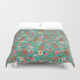 Rhodesian Ridgeback floral dog breed gifts pure breed must have dog pattern Duvet Cover