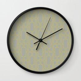 Simply Mid-Century Mod Yellow on Retro Gray Wall Clock