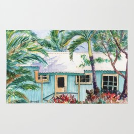Tropical Vacation Cottage Rug