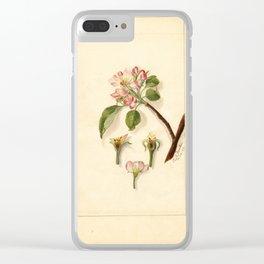 Peach Blossom Clear iPhone Case