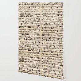 Johann Sebastian Bach (1685 – 1750) original music sheet Wallpaper