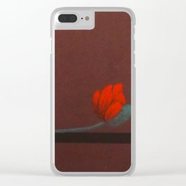 Coquelicot oreiller 2 Clear iPhone Case