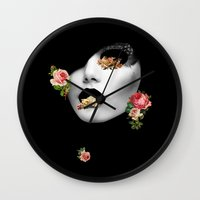 noir Wall Clocks featuring : noir : by Bauerhorst