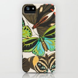 Butterfly and Moth Print by E.A. Seguy, 1920s #19 iPhone Case
