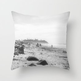 Cardiff State Beach Throw Pillow