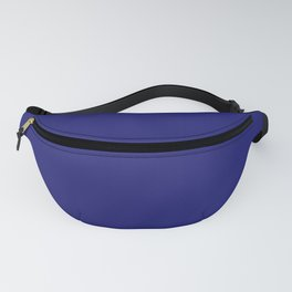 Midnight Blue Solid Plain Color  Fanny Pack